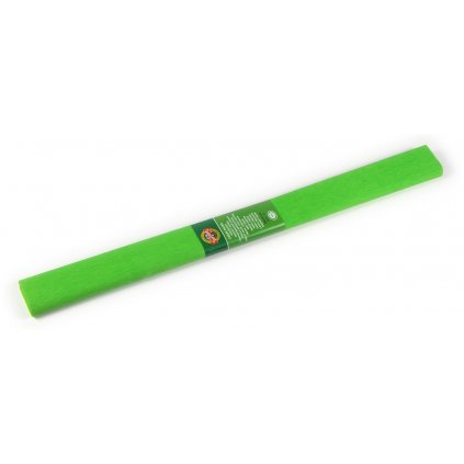 Krepový papír, světle zelená
