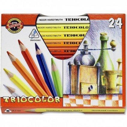 pastelky koh i noor triocolor jumbo 24 ks koh i noor 3154