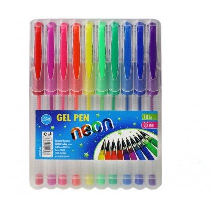 Gelové pero 10 barev neon