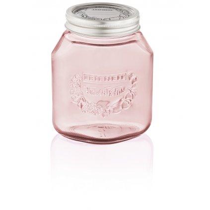 Zavařovací sklenice 1l růžová