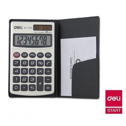 Kalkulačka Deli E 1120 8-mi místný displej Luma