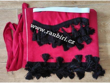 dodávka červené černé střapce