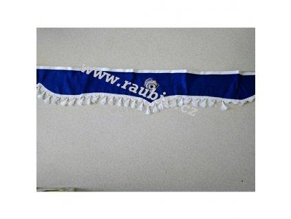 Bordura DAF modrá - bílé střapce