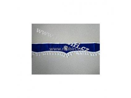 Bordura  IVECO modrá - bílé střapce
