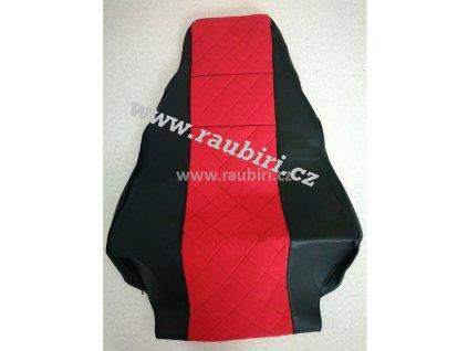 Potahy MAN do 2017 černé - červený střed, oba pásy ze sedačky