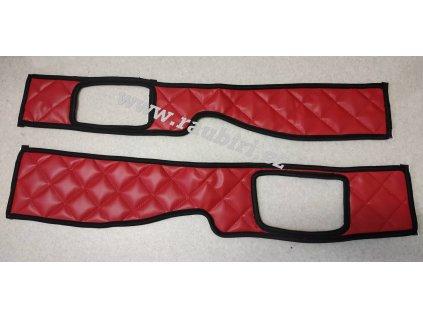 šály DAF 105106 červené