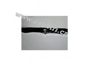 Bordura Mercedes černá - bílé střapce