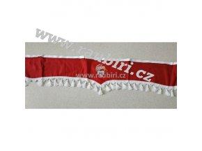 Bordura MAN červená - bílé střapce