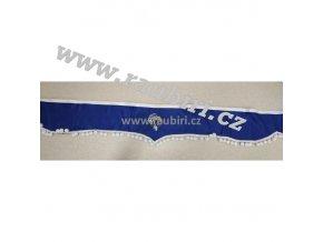 Bordura Mercedes modrá - bílé kuličky