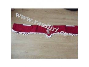 Bordura Iveco červená - bílé kuličky