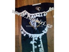 Závěsy Iveco černé - bílé střapce