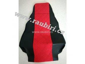 Potahy MAN do 2017 černé - červený střed, jeden pás ze sedačky