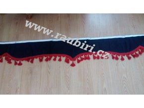 Bordura UNIVERSAL černá - červené střapce