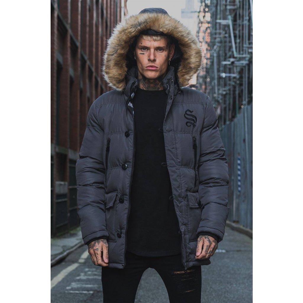 Sinners Attire Dark Grey Arctic Parka Jacket 7 2000x