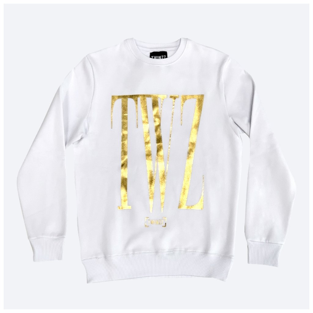 ROSSI CREWNECK SWEATSHIRT white Gold