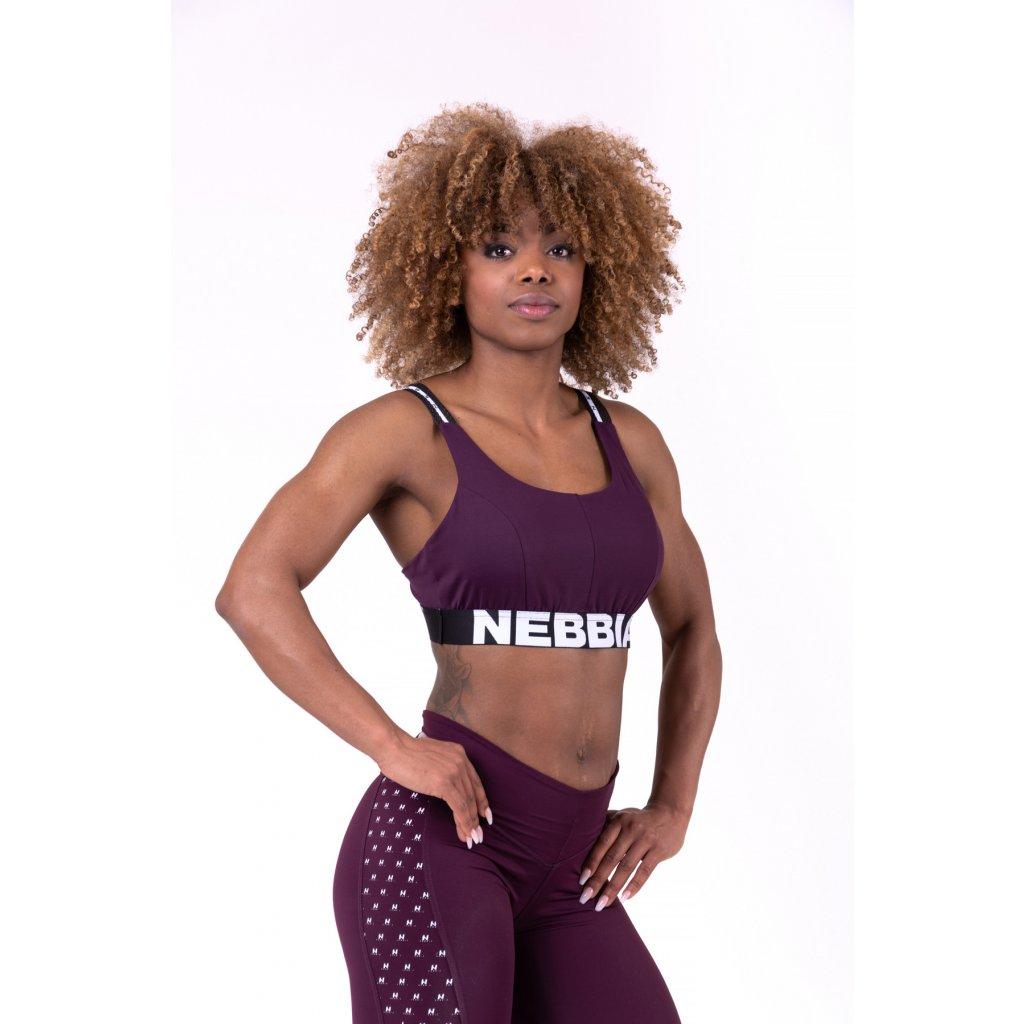 NEBBIA - AIRY STRAPS SPORT BRA - Burgundy
