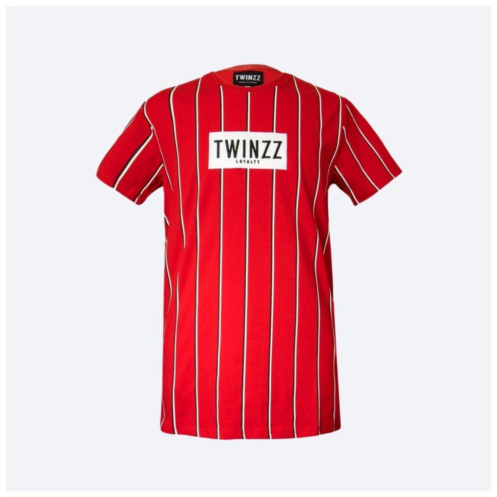 TWINZZ VIRGILLI STRIPE SS TEE Red Black White