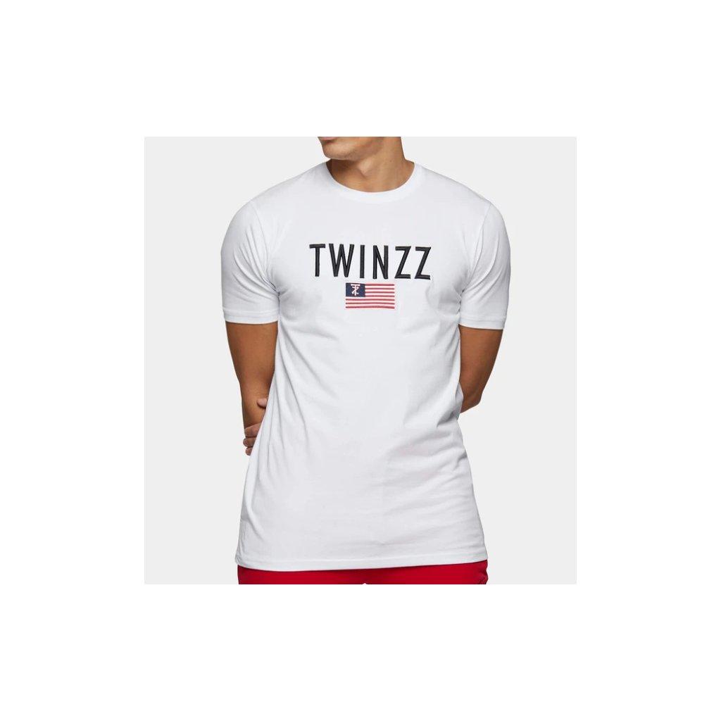 Vincet triko TWINZZ s vyšitým logem a vlajkou Twinzz.