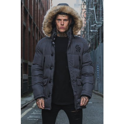 Sinners Attire Dark Grey Arctic Parka Jacket 7 2000x