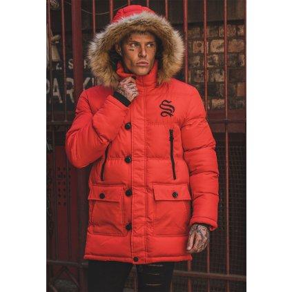 Sinners Attire Red Arctic Parka Jacket 2000x