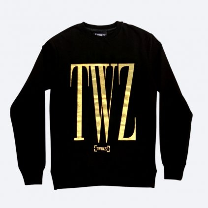 ROSSI CREWNECK SWEATSHIRT Black Gold
