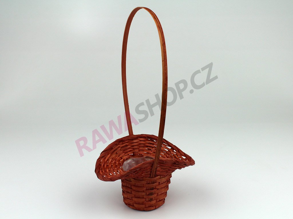 Košík ∅ 6cm - červenohnědá