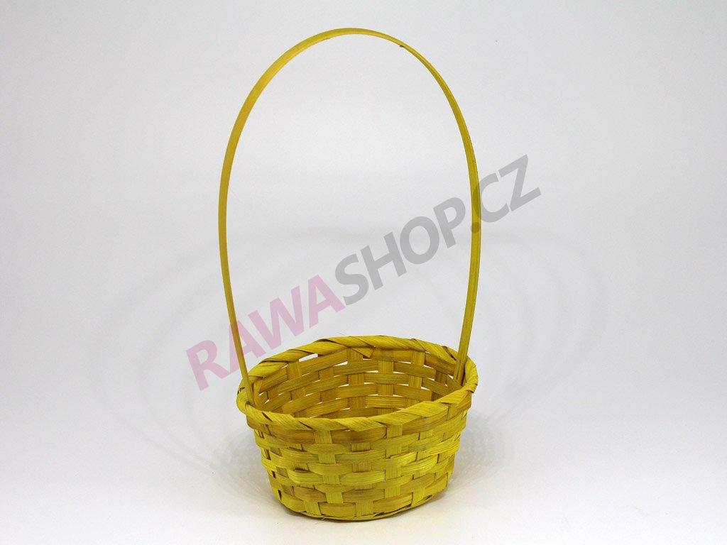 Oválný košík - žlutý