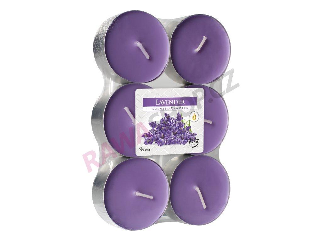 11. Čajové svíčky Maxi 6ks Lavender