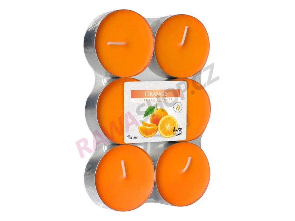 6. Čajové svíčky Maxi 6 ks Orange