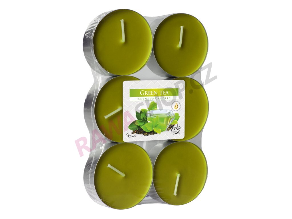 3. Čajové svíčky Maxi 6 ks Green tea