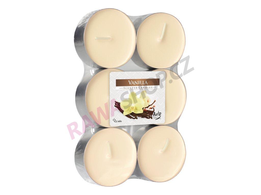 10. Čajové svíčky Maxi 6 ks Vanilla