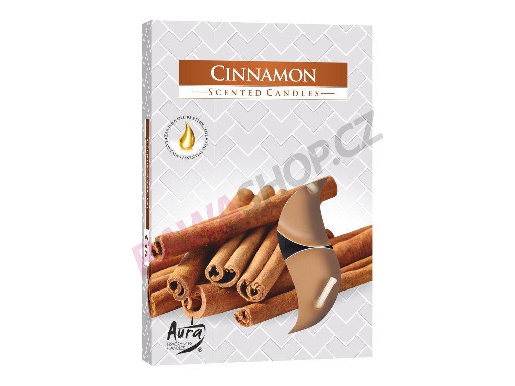 3. Čajové svíčky 6 ks Cinnamon
