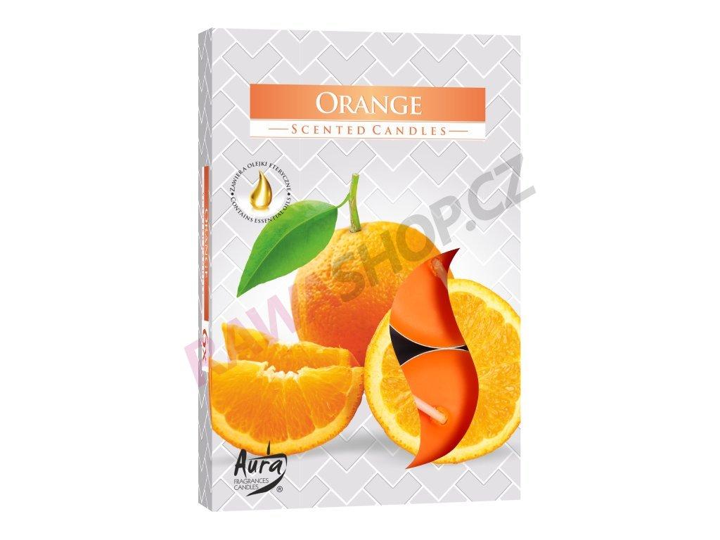 15. Čajové svíčky 6 ks Orange