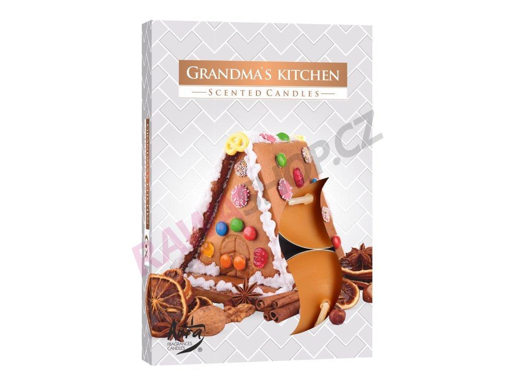 6. Čajové svíčky 6 ks Grandma's kitchen