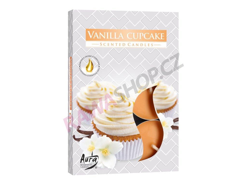 24. Čajové svíčky 6 ks Vanilla cupcake