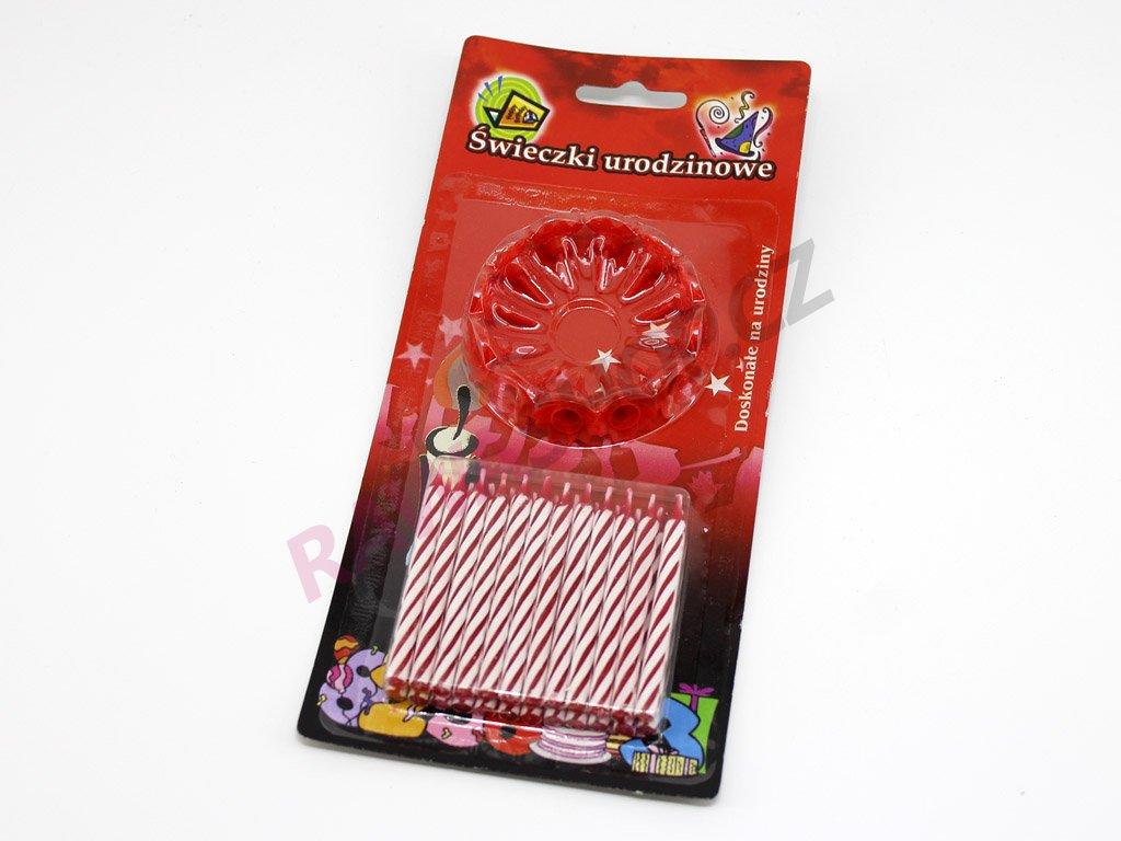 Dortové svíčky červené