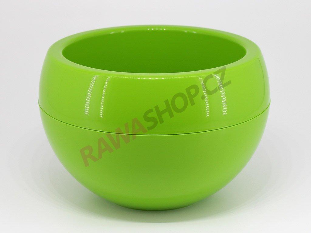 Plastový obal koule - světle zelená