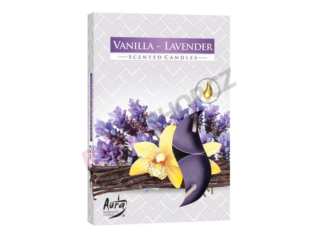 25. Čajové svíčky 6 ks Vanilla lavender