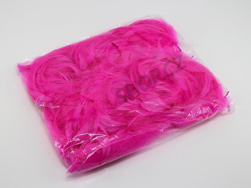 Peří - růžové