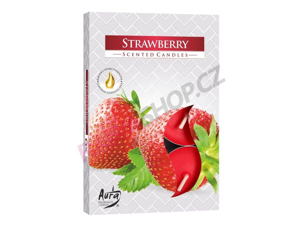 20. Čajové svíčky 6 ks Strawberry