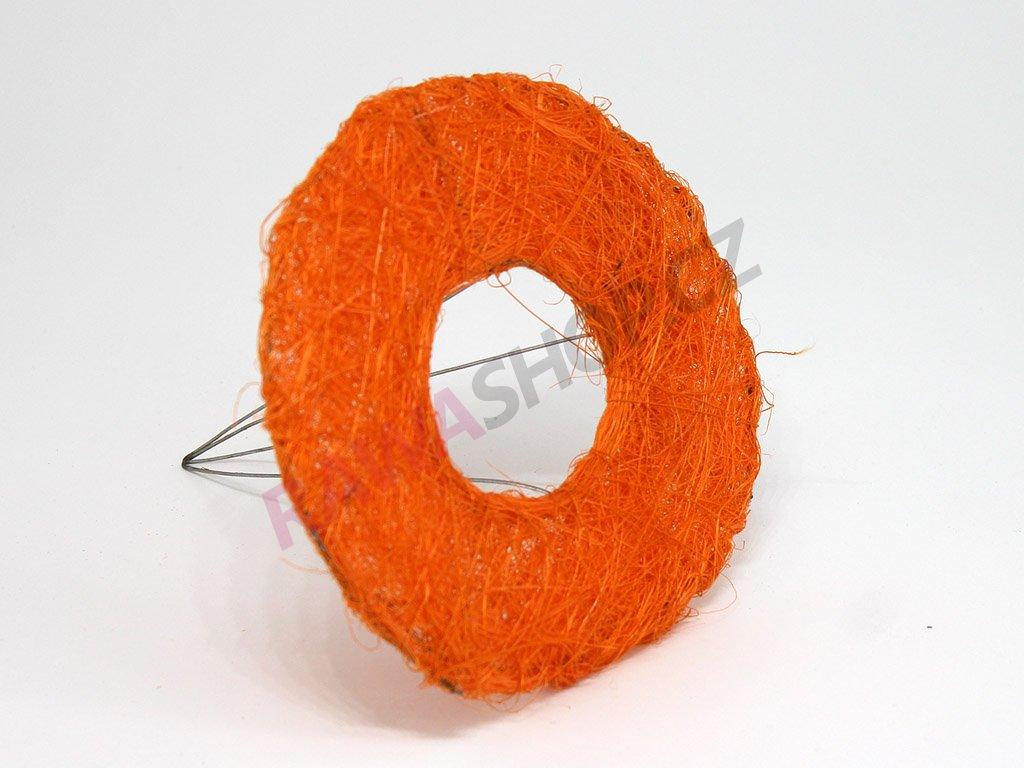 Sisalová ozdoba na kytici - oranžová