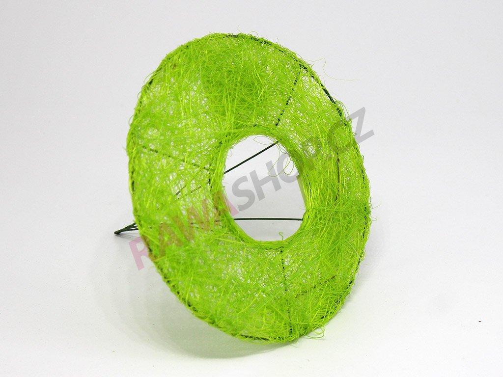 Sisalová ozdoba na kytici - zelená