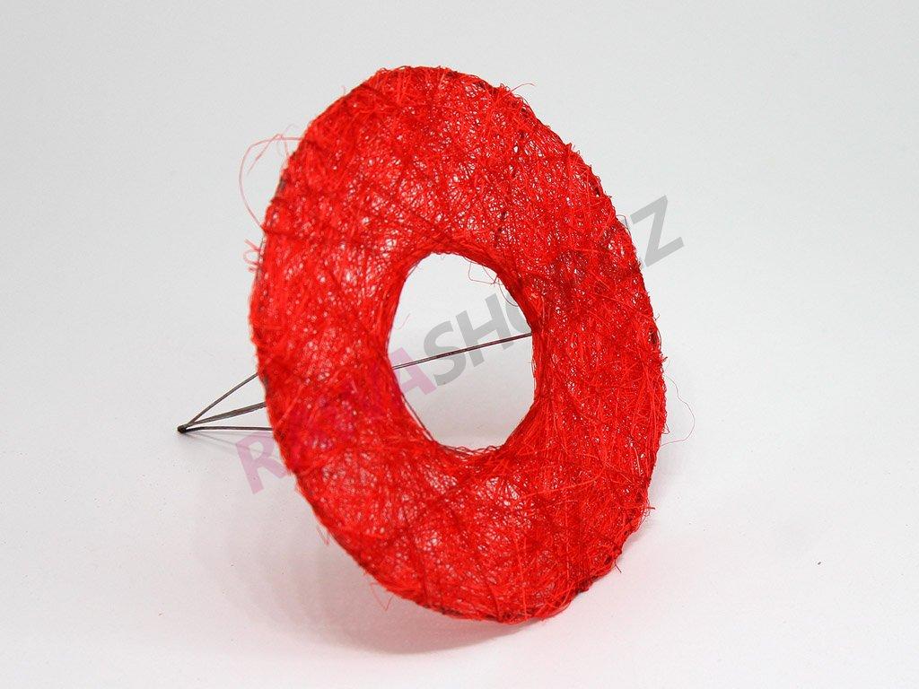 Sisalová ozdoba na kytici - červená