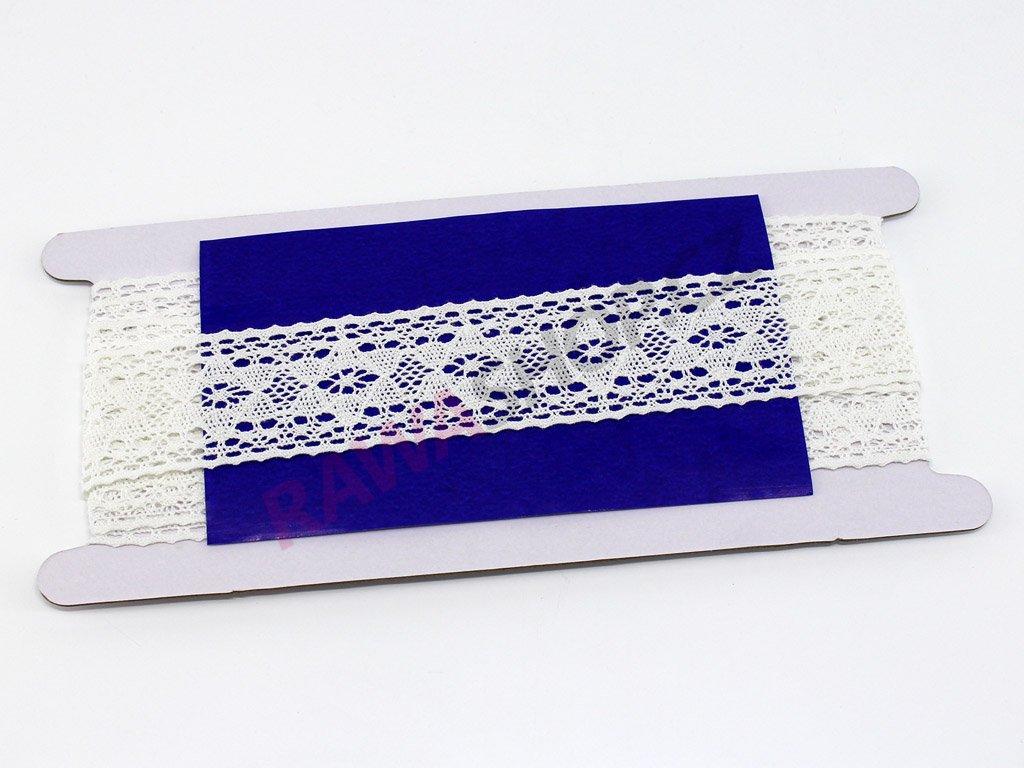 Krajka 3,4cm - bílá