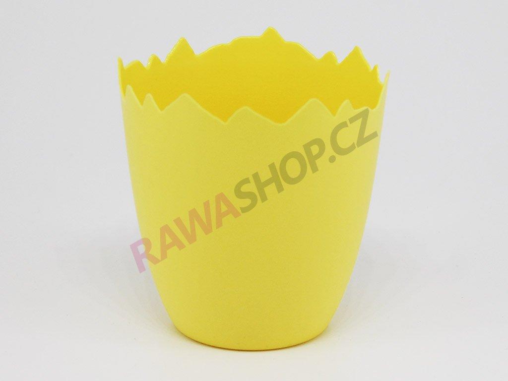 Plastový obal skořápka - světle žlutá