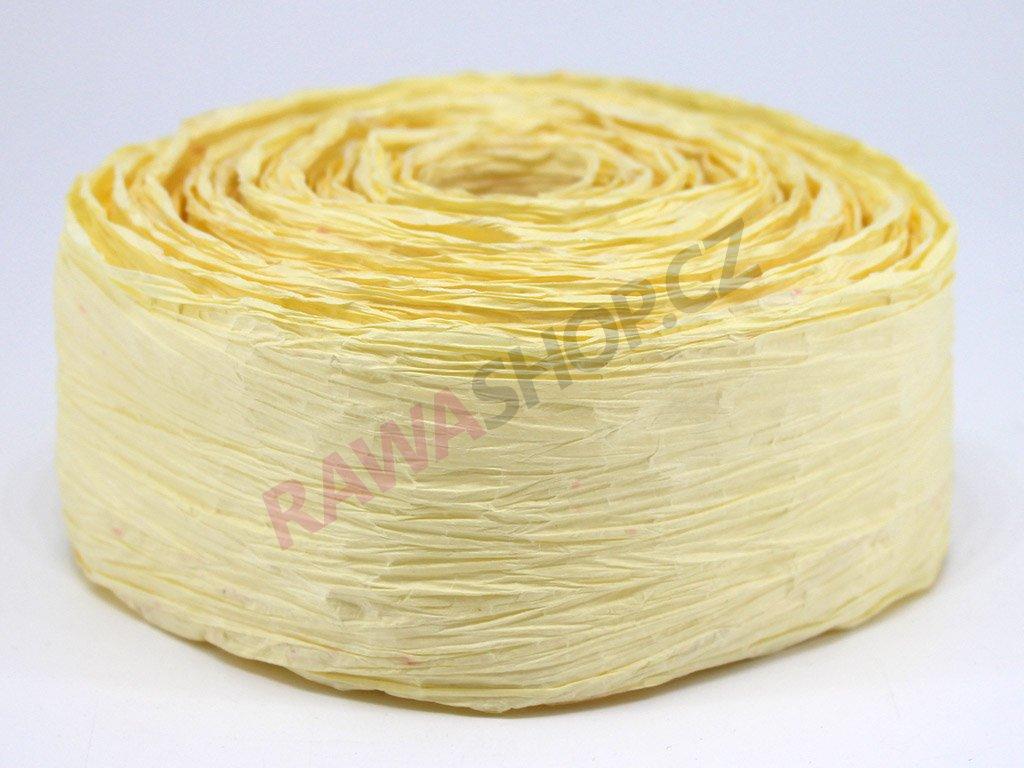 Krepová stuha - světle žlutá