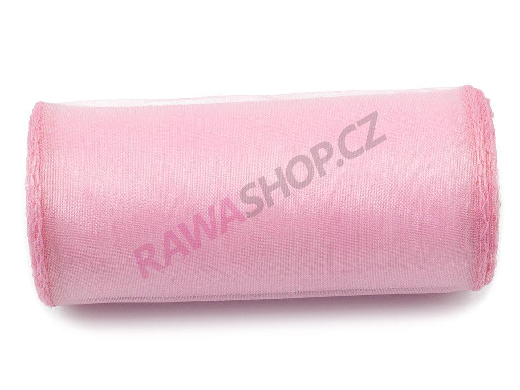 Organza 12 cm - lt. pink