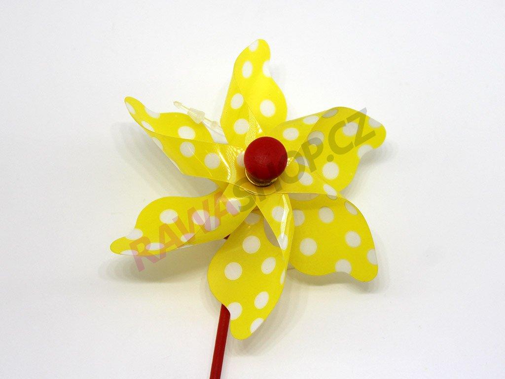 Větrník zápich - žlutý