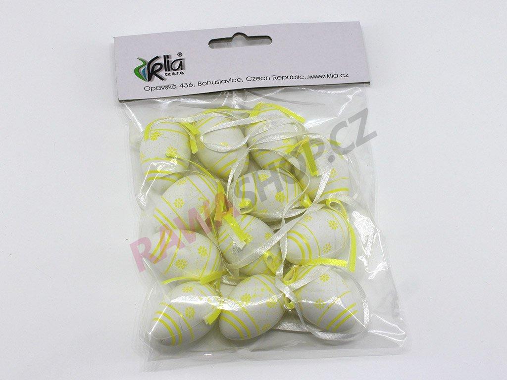Vajíčka 12 ks - žlutá