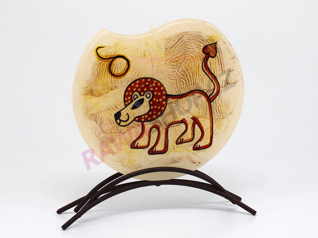 Plochá svíčka zvěrokruh - lev